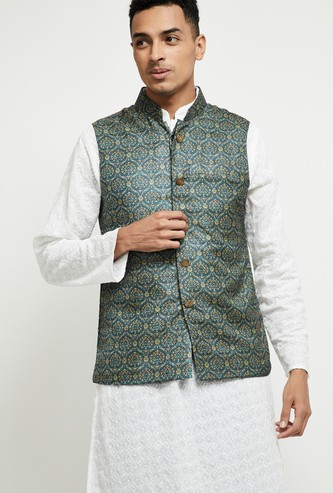 MAX Jacquard Pattern Nehru Jacket