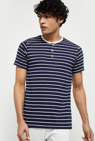 MAX Striped Crew Neck Lounge T-shirt