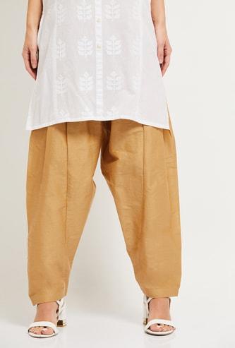 MAX Solid Elasticated Patiala Pants
