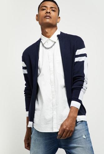 MAX Solid Zip-Closure Sweatshirt