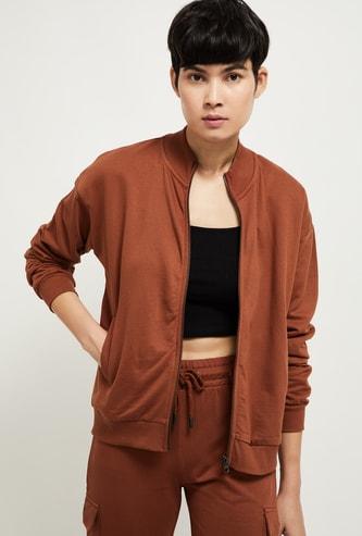 MAX Solid Open-Front Sweatshirt