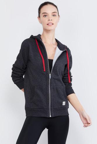 MAX Textured Zip-Front Hoodie