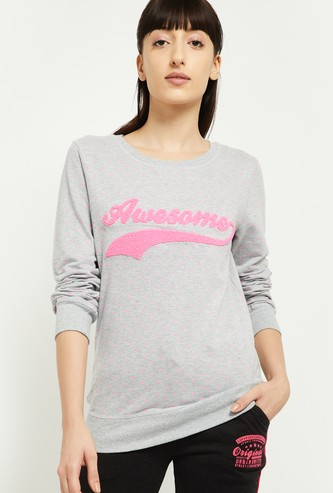 MAX Polka-Dot Print Sweatshirt with Applique