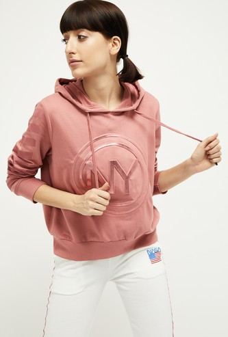 MAX Appliqued Hooded Sweatshirt