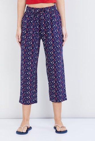 MAX Printed Elasticated Capri
