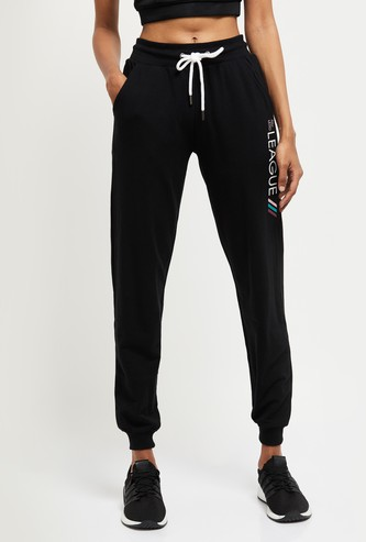 MAX Typographic Print Joggers with Scoop Pockets