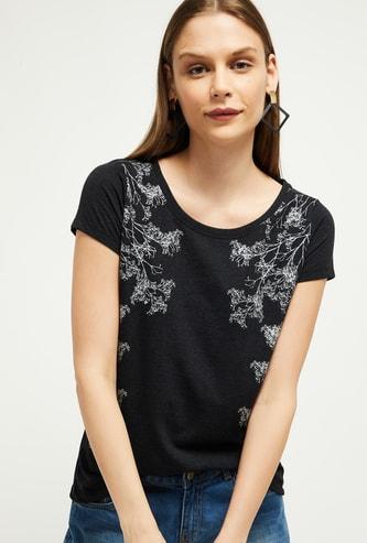 MAX Tropical Print Short Sleeves T-shirt