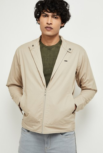 MAX Solid Zip-Front Jacket