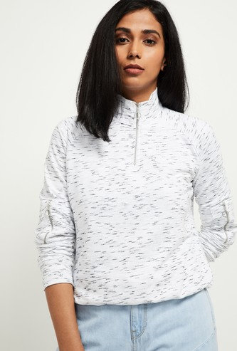 MAX Heathered Full Sleeves Sweatshirt