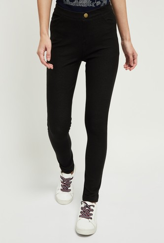 MAX Solid Skinny Fit Treggings