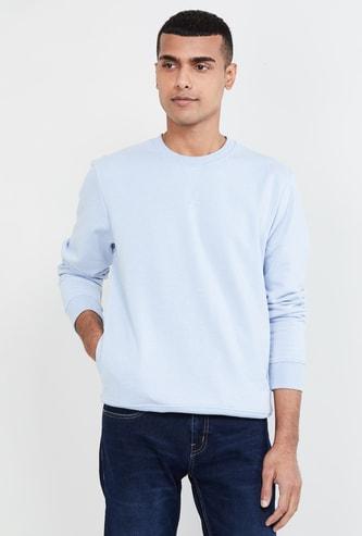 MAX Solid Regular Fit Crew Neck Sweatshirt