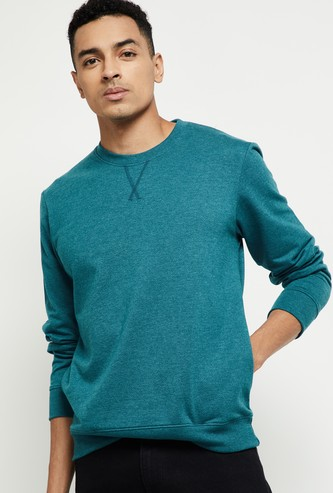 MAX Solid Sweatshirt with Insert Pockets