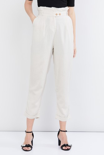 MAX Solid Elasticated Peg Trousers