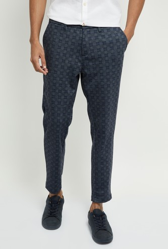 MAX Checked Skinny Fit Chinos