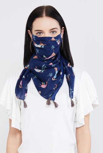MAX Printed Anti-Bacterial Scarf Mask