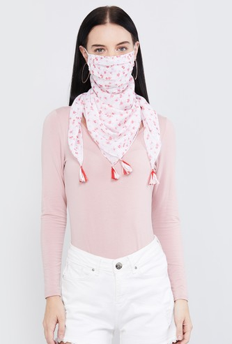 MAX Floral Print Anti-Bacterial Scarf Mask