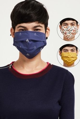 MAX Printed Cloth Face Mask - Pack of 3