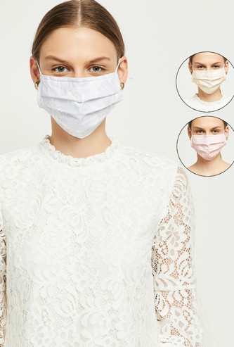 MAX Printed 3-Layer Pleated Face Mask- Set of 3