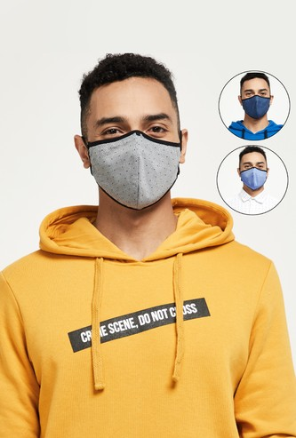 MAX Solid 3-Layered Reusable Masks- Pack of 3