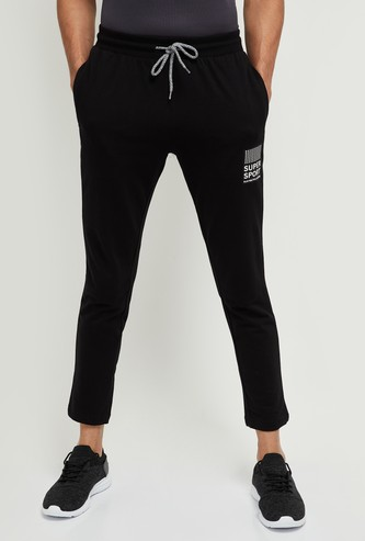MAX Printed Track Pants with Drawstring Waist