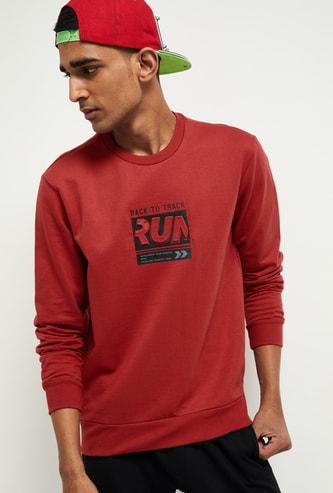 MAX Typographic Print Crew Neck Sweatshirt
