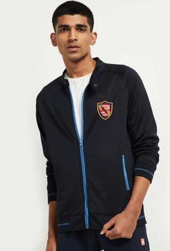 MAX Appliqued Zip-Closure Sweatshirt