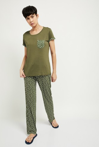 MAX Printed Lounge Top with Pyjama