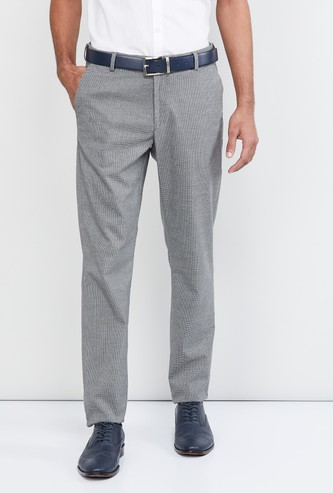 MAX Textured Slim Fit Casual Trousers