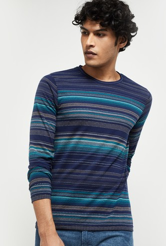 MAX Patterned Knit T-shirt with Long Sleeves