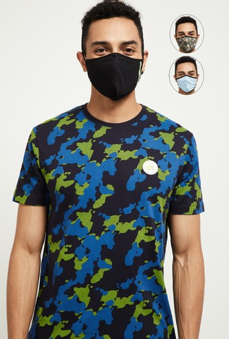 MAX OXYPro Printed 3-Layered Reusable Masks - Pack of 3