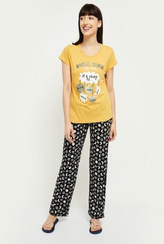 MAX Printed Lounge T-shirt with Pyjama