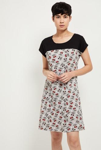 MAX Minnie Mouse Print Colourblock Night Dress
