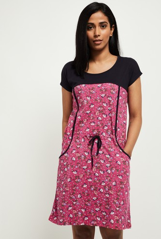 MAX Floral Print Short Sleeves Chemise