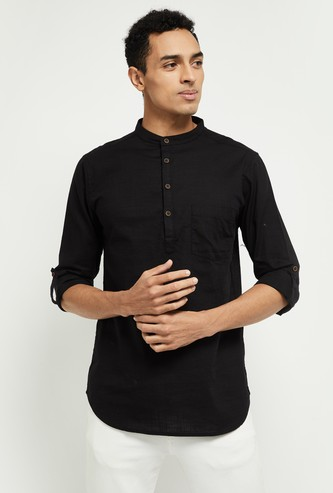 MAX Solid Full Sleeves Kurta