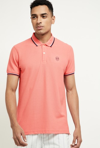 MAX Solid Polo T-shirt with Contrast Taping