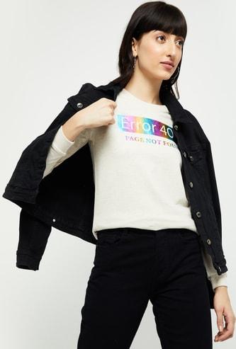MAX Printed Round-Neck Sweatshirt