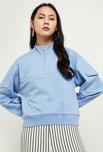 MAX Solid Full-Sleeves Sweatshirt