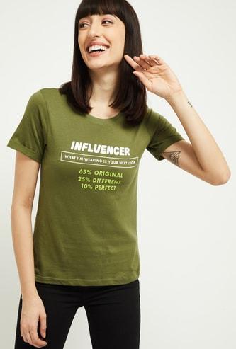 MAX Typographic Print Short Sleeves T-shirt