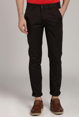 PETER ENGLAND Solid Slim Fit Chinos