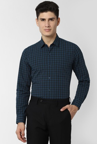 PETER ENGLAND Checked Slim Fit Formal Shirt
