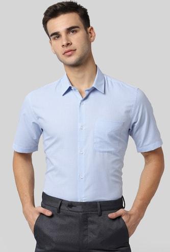 PETER ENGLAND Micro Checks Slim Fit Formal Shirt