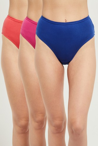 MAX Solid Hipster Panties- Pack of 3