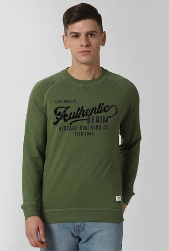 PETER ENGLAND Typographic Print Crew-Neck Sweatshirt