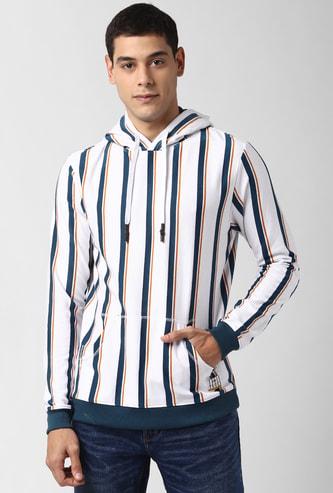 PETER ENGLAND Striped Hooded Sweatshirt