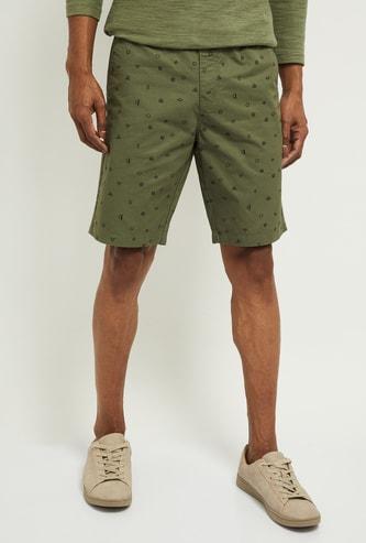 MAX Printed Slim Fit Casual Shorts