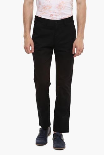 PETER ENGLAND Solid Casual Trousers
