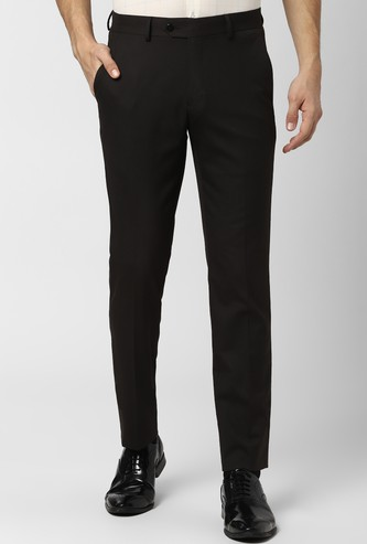 PETER ENGLAND Solid Slim Fit Formal Trousers