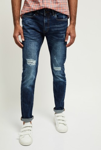 MAX Distressed Skinny Fit Jeans