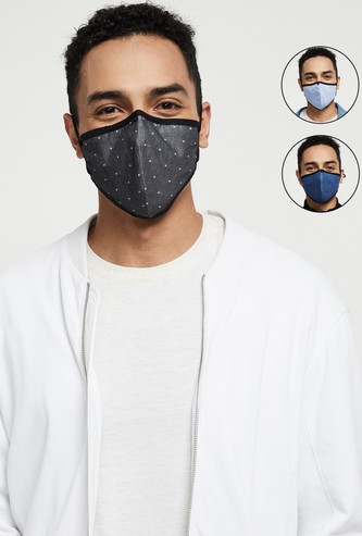 MAX Printed Reversible Reusable Masks - Pack of 3