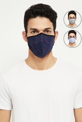 MAX Checked Reversible Reusable Masks - Pack of 3